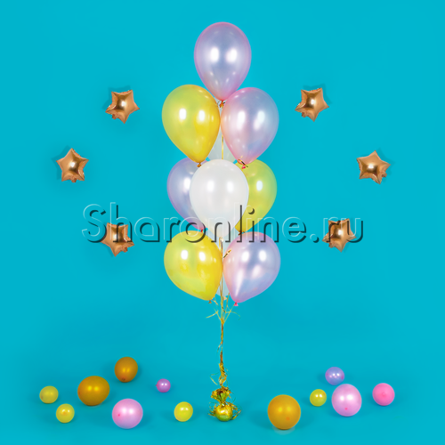 Фото №3: Фонтан из 10 шаров фантазия