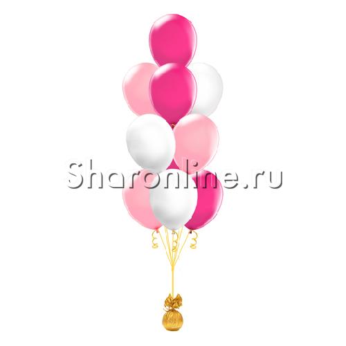 Фото №2: Фонтан из 10 шаров клубничный коктейль