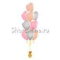 Фото №1: Фонтан из 10 шаров легкий шарм