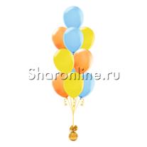 Фонтан из 10 шаров летняя акварель