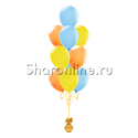 Фото №2: Фонтан из 10 шаров летняя акварель