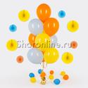 Фото №1: Фонтан из 10 шаров летняя акварель