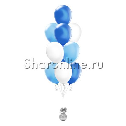 Фото №1: Фонтан из 10 шаров морской бриз