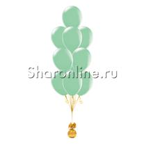 Фонтан из 10 шаров мятного цвета