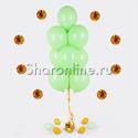 Фото №1: Фонтан из 10 шаров мятного цвета