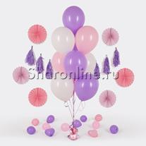 Фонтан из 10 шаров нежность