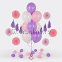 Фото №1: Фонтан из 10 шаров нежность