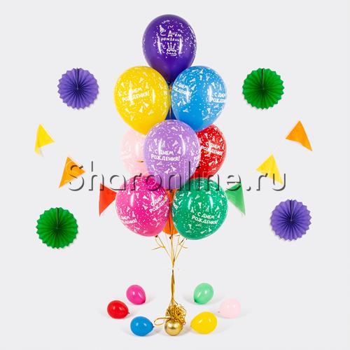 Фото №1: Фонтан из 10 шаров с днем рождения