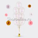 Фото №2: Фонтан из 10 шаров с круглым перламутровым конфетти