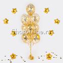 Фото №1: Фонтан из 10 шаров с круглым золотым конфетти