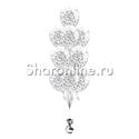 Фото №1: Фонтан из 10 шаров с квадратным серебряным конфетти