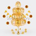 Фото №2: Фонтан из 10 шаров с квадратным золотым конфетти