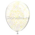 Фото №2: Фонтан из 10 шаров с золотым конфетти в виде полосок