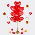 Фото №2: Фонтан из 10 шаров сердечек эксклюзив