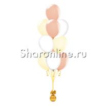 Фонтан из 10 шаров ванильный восторг