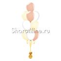 Фото №2: Фонтан из 10 шаров ванильный восторг