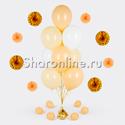 Фото №1: Фонтан из 10 шаров ванильный восторг