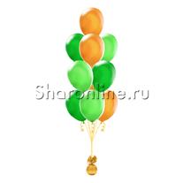 Фонтан из 10 шаров весеннее настроение