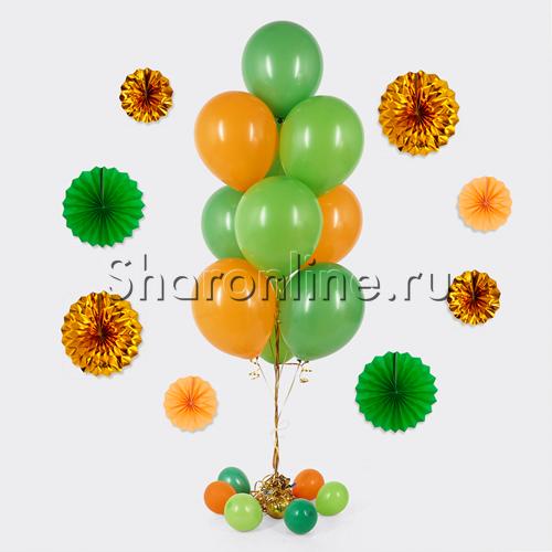 Фото №1: Фонтан из 10 шаров весеннее настроение