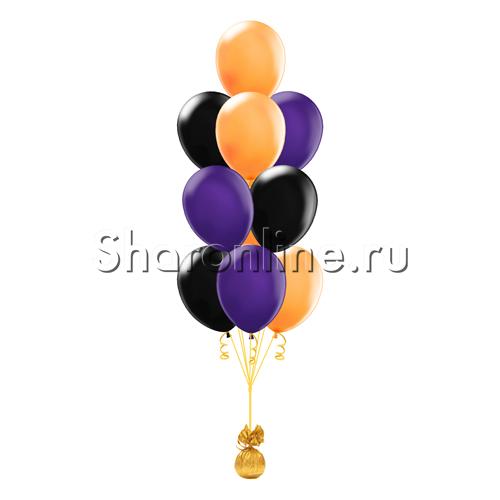 Фото №2: Фонтан из 10 шаров на яркий Хэллоуин
