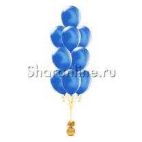 Фонтан из 10 синих шаров