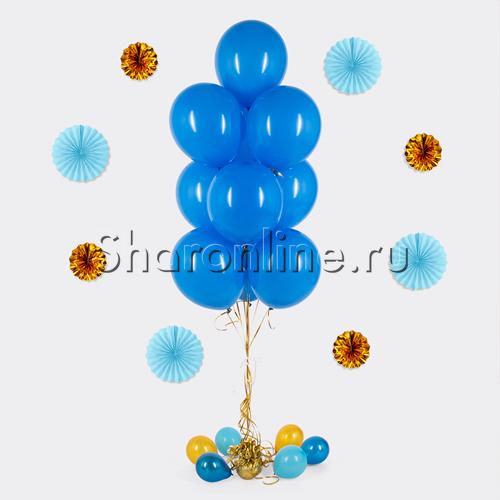 Фото №1: Фонтан из 10 синих шаров