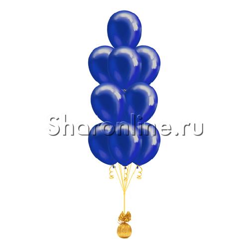 Фото №2: Фонтан из 10 синих шаров металлик