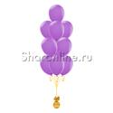 Фото №1: Фонтан из 10 сиреневых шаров