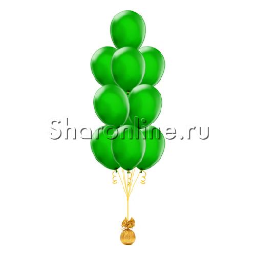 Фото №1: Фонтан из 10 зеленых шаров