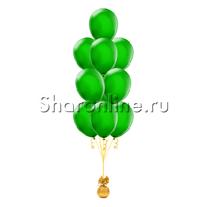 Фонтан из 10 зеленых шаров