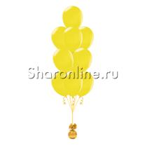 Фонтан из 10 желтых шаров