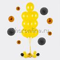 Фото №1: Фонтан из 10 желтых шаров металлик