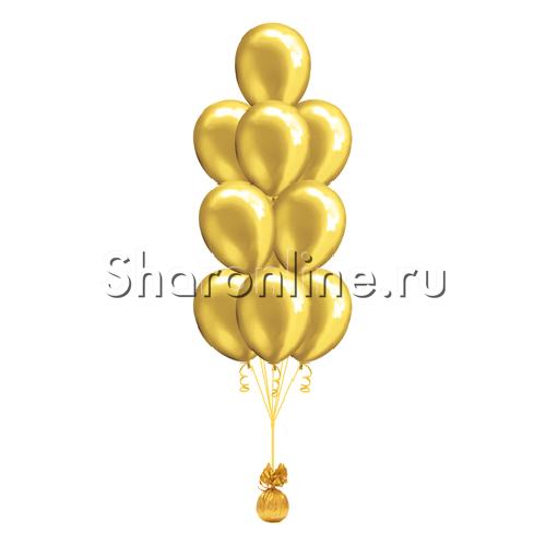 Фото №2: Фонтан из 10 золотых шаров