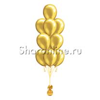 Фонтан из 10 золотых шаров