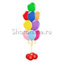 Фото №2: Фонтан из шаров 10 шаров ассорти на мини-стойке