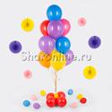 Фото №1: Фонтан из шаров 10 шаров ассорти на мини-стойке