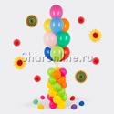 Фото №1: Фонтан из шаров ассорти на столбике 1 м