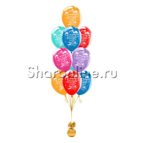 """Фото №1: Фонтан из шаров """"До свидания, детский сад!"""""""