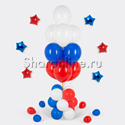 """Фото №1: Фонтан из шаров """"Флаг России"""" на столбике 50 см"""