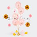 "Фото №1: Фонтан из шаров ""Фламинго"""