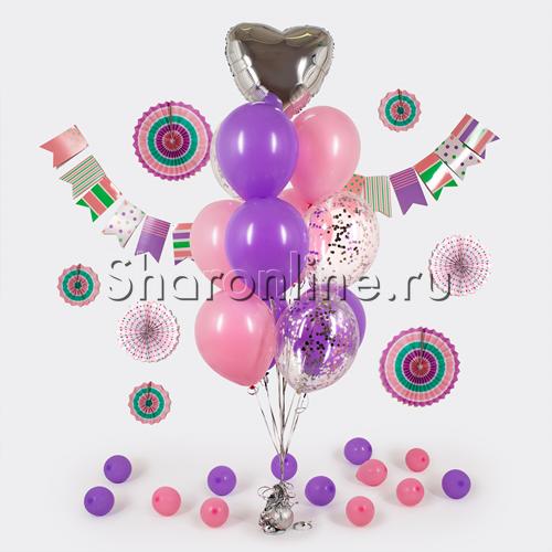 """Фото №1: Фонтан из шаров """"Гармония"""""""