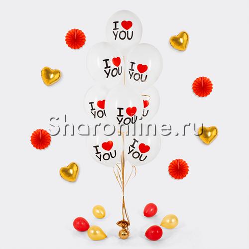 Фото №1: Фонтан из шаров I love you