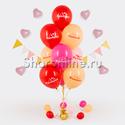 """Фото №1: Фонтан из шаров """"Комплименты для неё"""""""