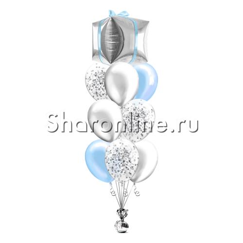 """Фото №1: Фонтан из шаров """"Приятный сюрприз"""""""