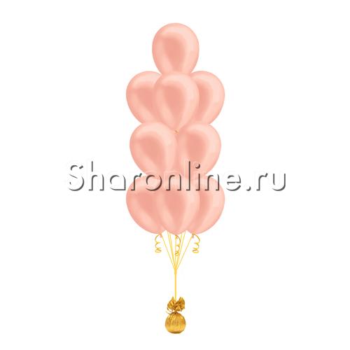 """Фото №2: Фонтан из шаров """"Розовое золото"""" металлик"""