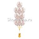 """Фото №2: Фонтан из шаров с конфетти """"Розовое золото"""""""