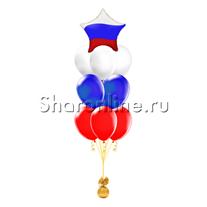 Фонтан из шаров триколор