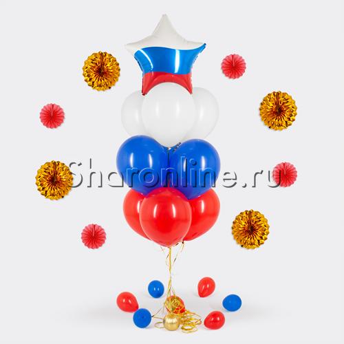 Фото №1: Фонтан из шаров триколор