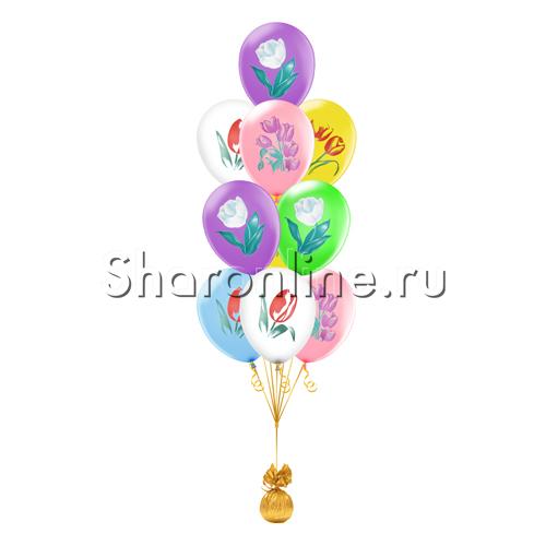 """Фото №2: Фонтан из шаров """"Тюльпаны"""""""