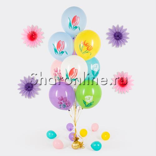 """Фото №1: Фонтан из шаров """"Тюльпаны"""""""